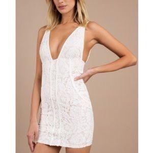 TOBI || White Mini Lace Dress